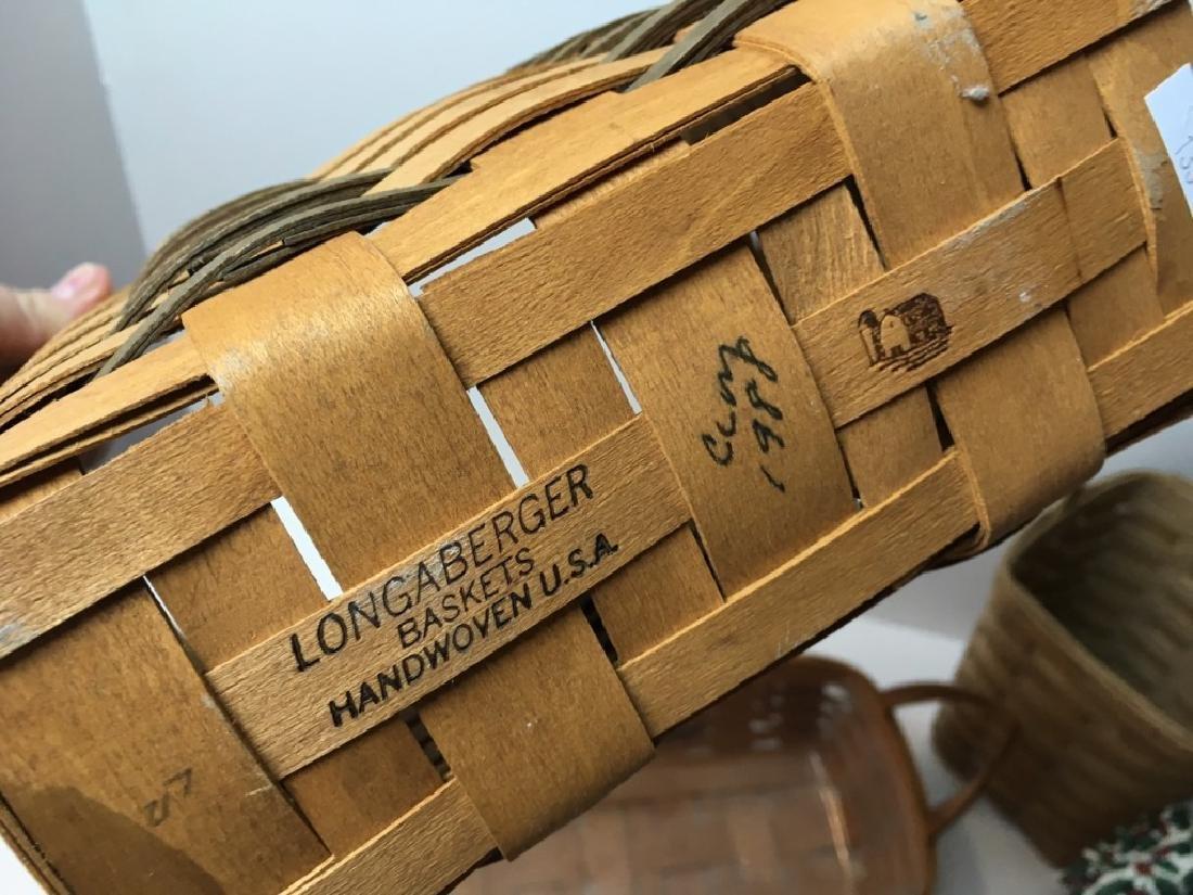 7 BASKETS - 5 LONGABERGER & 2 UNMARKED - 8