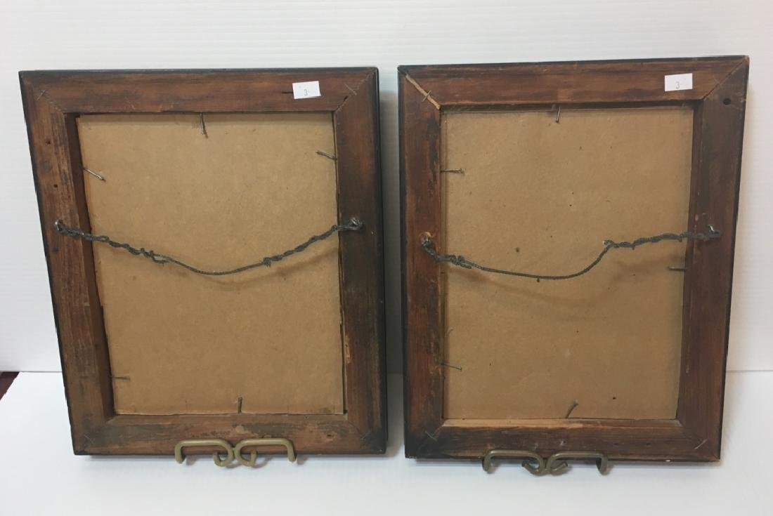 TWO 19TH C HAND PAINTED PAPER CUT SILHOUETTES - 6