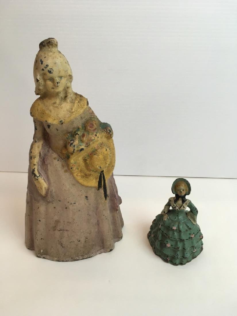 VINTAGE CAST IRON PAINTED DOORSTOPS