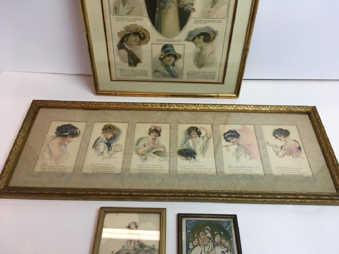 4 FRAMED ANTIQUE / VINTAGE ARTICLE, CARDS & POEMS - 3