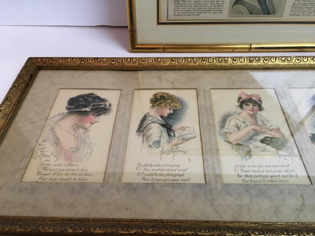 4 FRAMED ANTIQUE / VINTAGE ARTICLE, CARDS & POEMS - 5