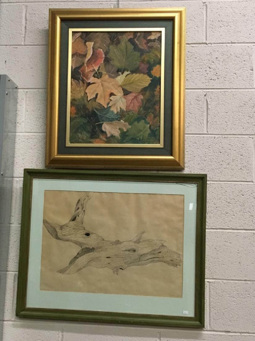 2 PCS OF FRAMED ARTWORK - SIGNED
