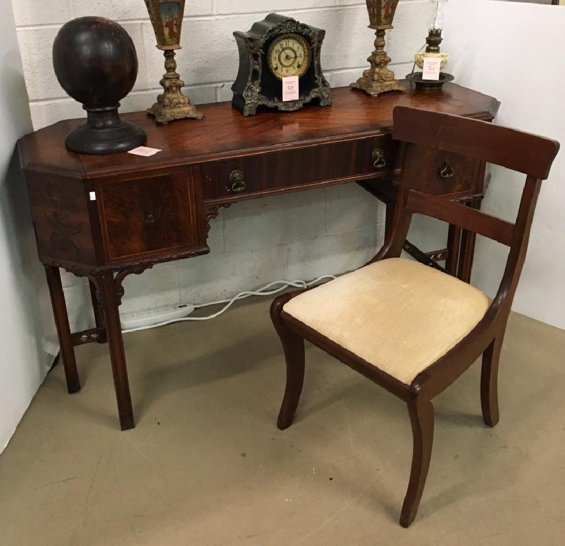CHINESE CHIPPENDALE STYLE VANITY & CHAIR