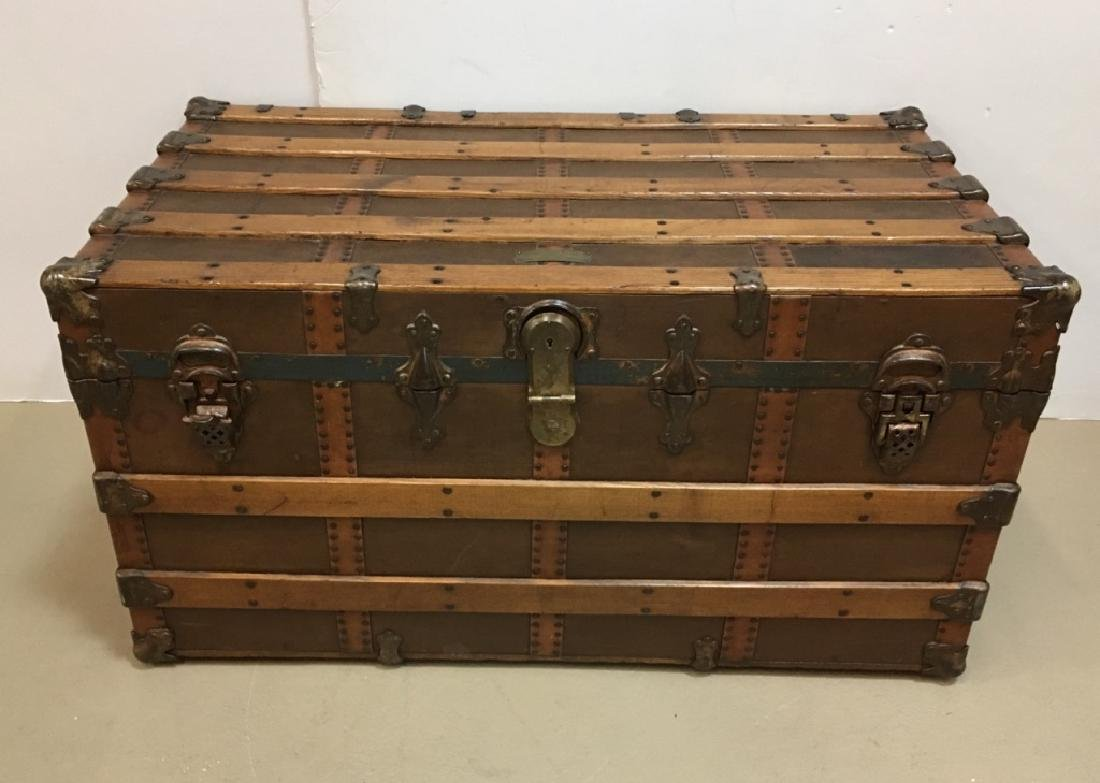 ANTIQUE STEAMER TRUNK - NORFOLK TRUNK FACTORY