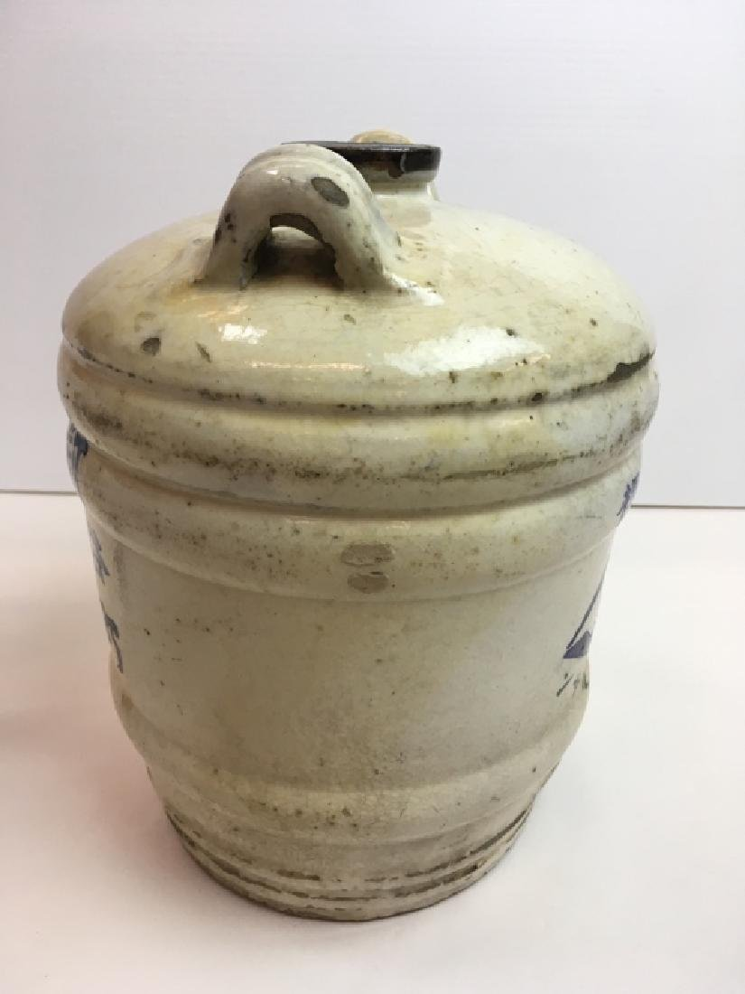 ANTIQUE JAPANESE STONEWARE SAKE JUG - 3