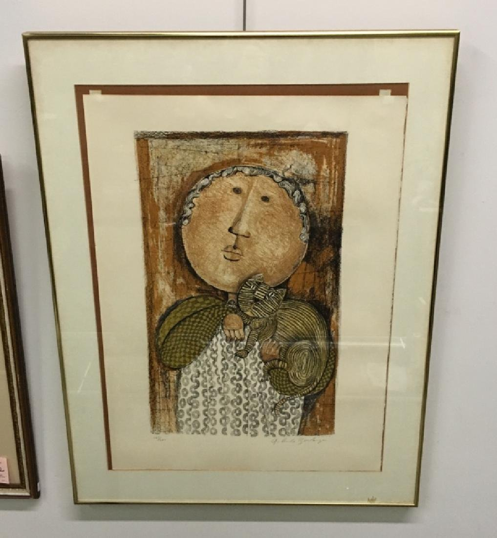 FRAMED LITHOGRAPH BY GRACIELA RODO BOULANGER