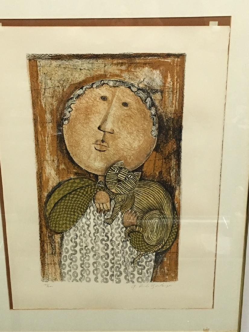FRAMED LITHOGRAPH BY GRACIELA RODO BOULANGER - 3