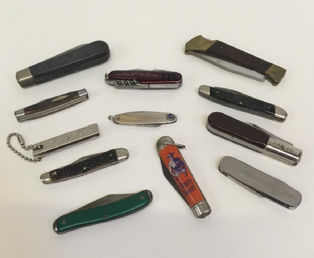 12 POCKET KNIVES