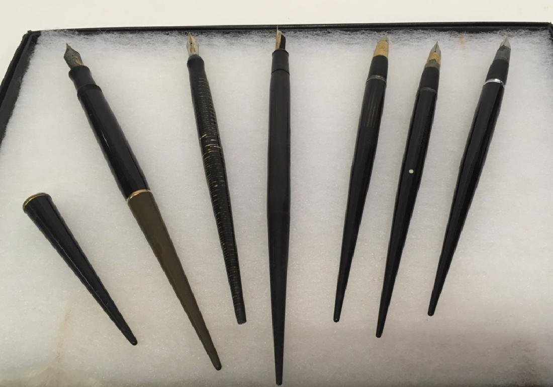 6 VINTAGE FOUNTAIN PENS & PART