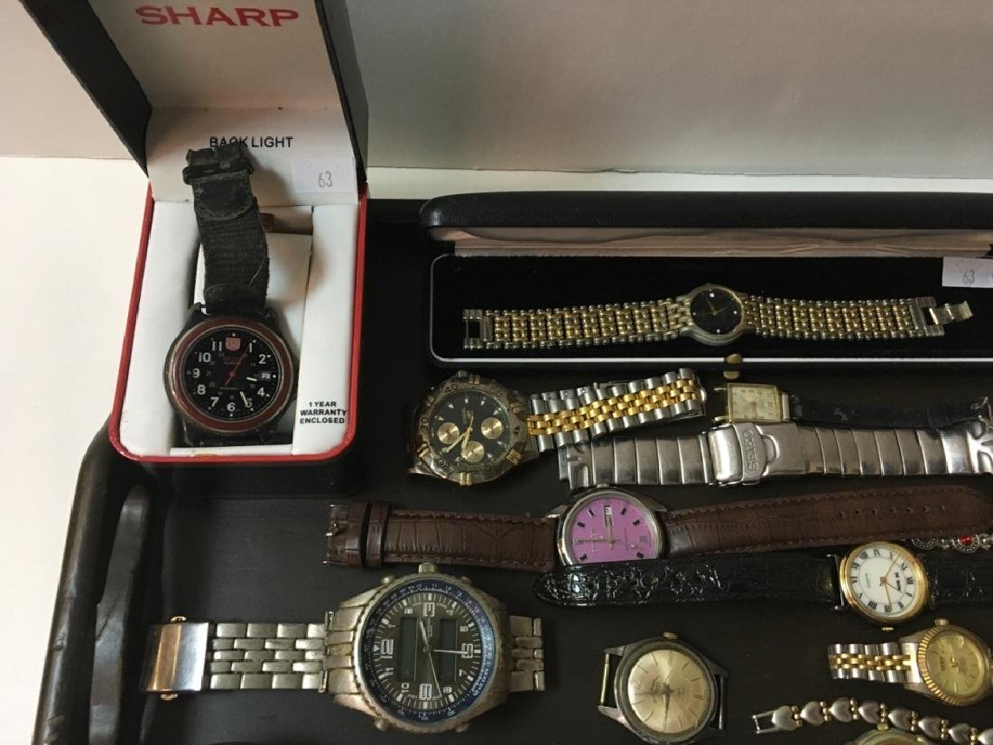 TRAY LOT OF VINTAGE & CONTEMPORARY WATCHES - 2