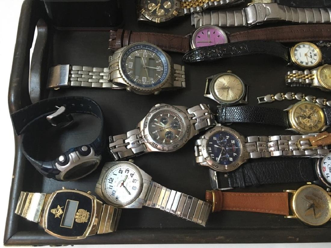 TRAY LOT OF VINTAGE & CONTEMPORARY WATCHES - 3