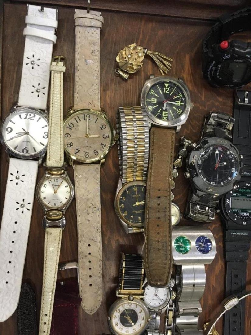 TRAY LOT OF VINTAGE & CONTEMPORARY WATCHES - 4