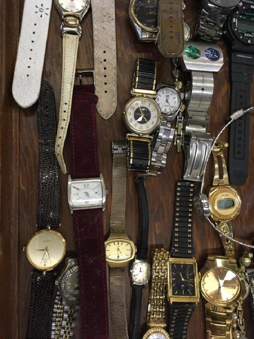 TRAY LOT OF VINTAGE & CONTEMPORARY WATCHES - 5