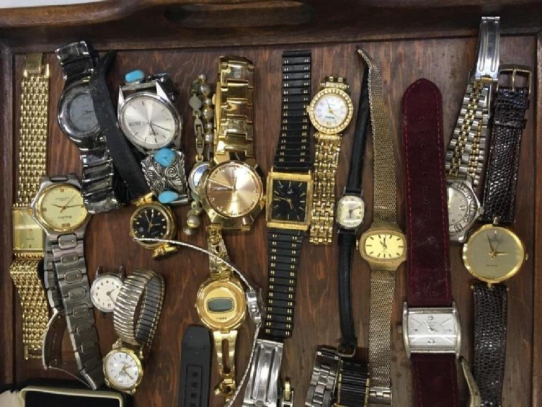 TRAY LOT OF VINTAGE & CONTEMPORARY WATCHES - 7
