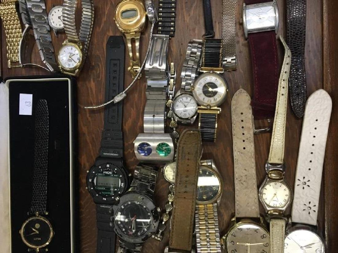 TRAY LOT OF VINTAGE & CONTEMPORARY WATCHES - 8