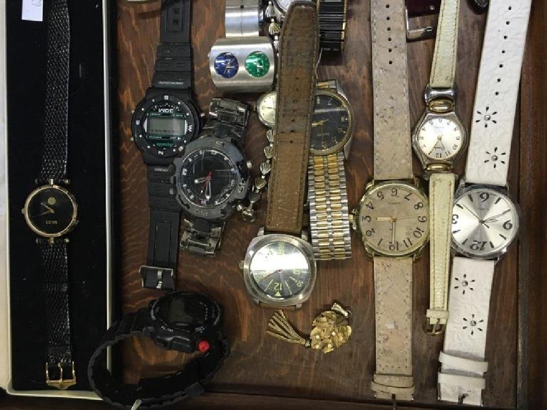 TRAY LOT OF VINTAGE & CONTEMPORARY WATCHES - 9