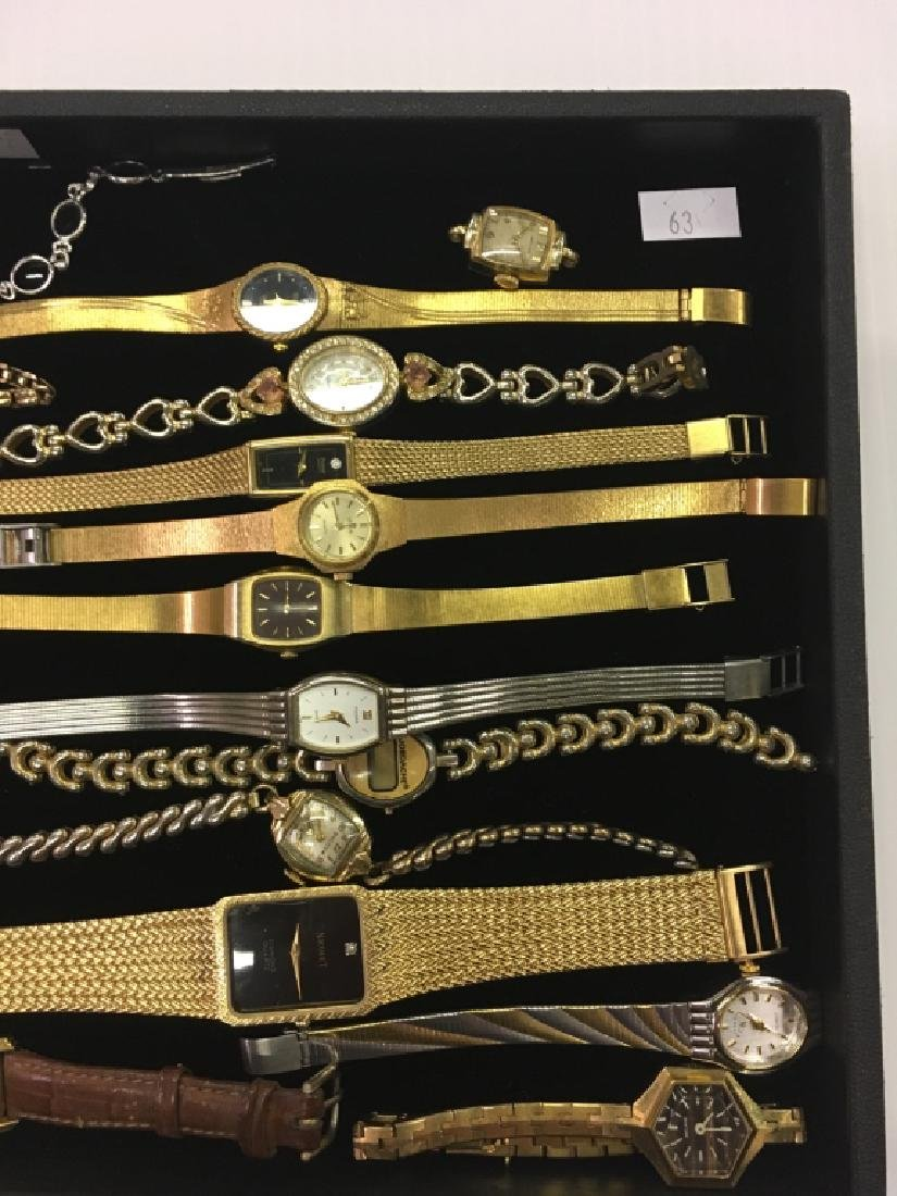 TRAY LOT OF WRIST WATCHES - 2