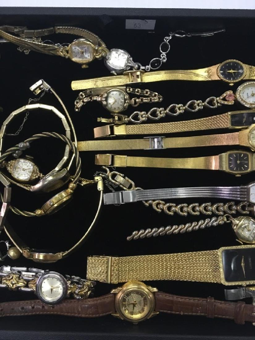 TRAY LOT OF WRIST WATCHES - 3