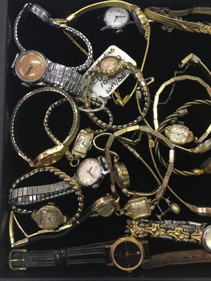 TRAY LOT OF WRIST WATCHES - 4