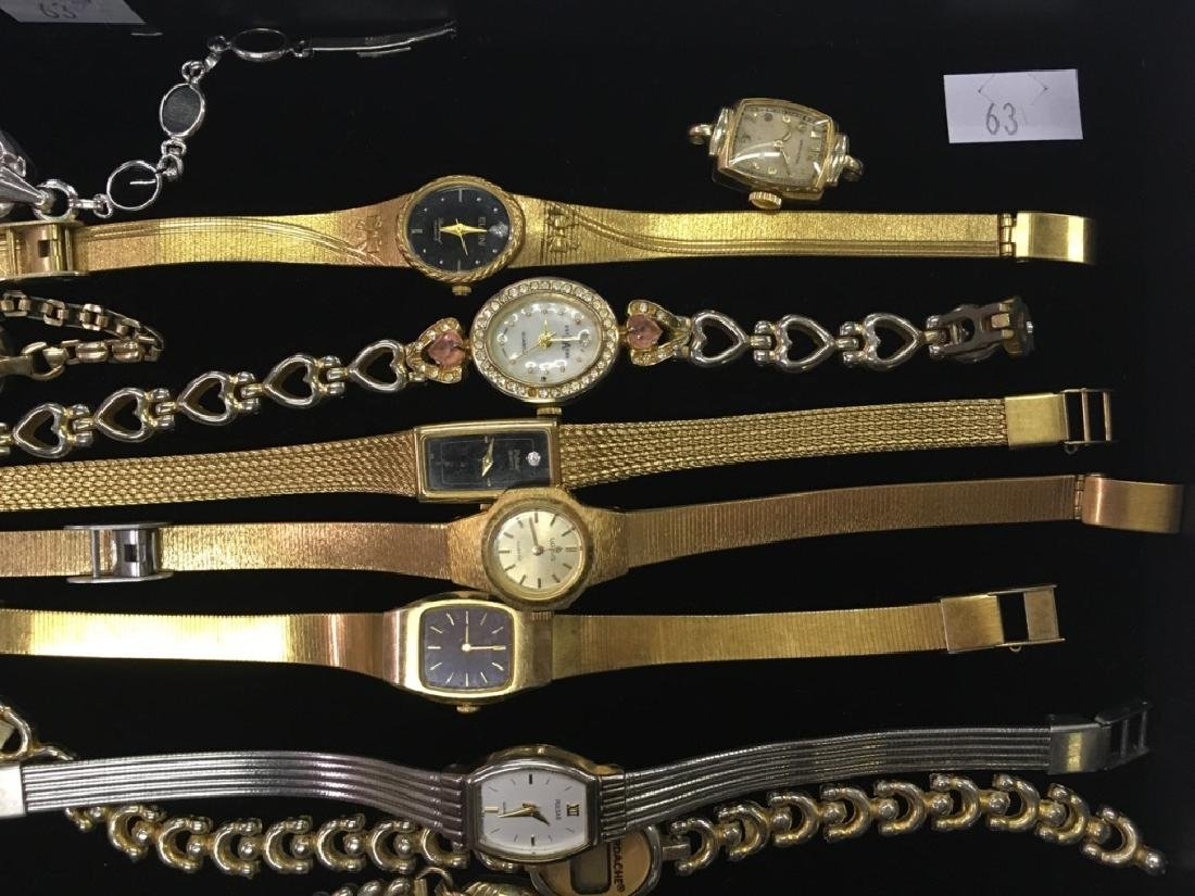 TRAY LOT OF WRIST WATCHES - 5