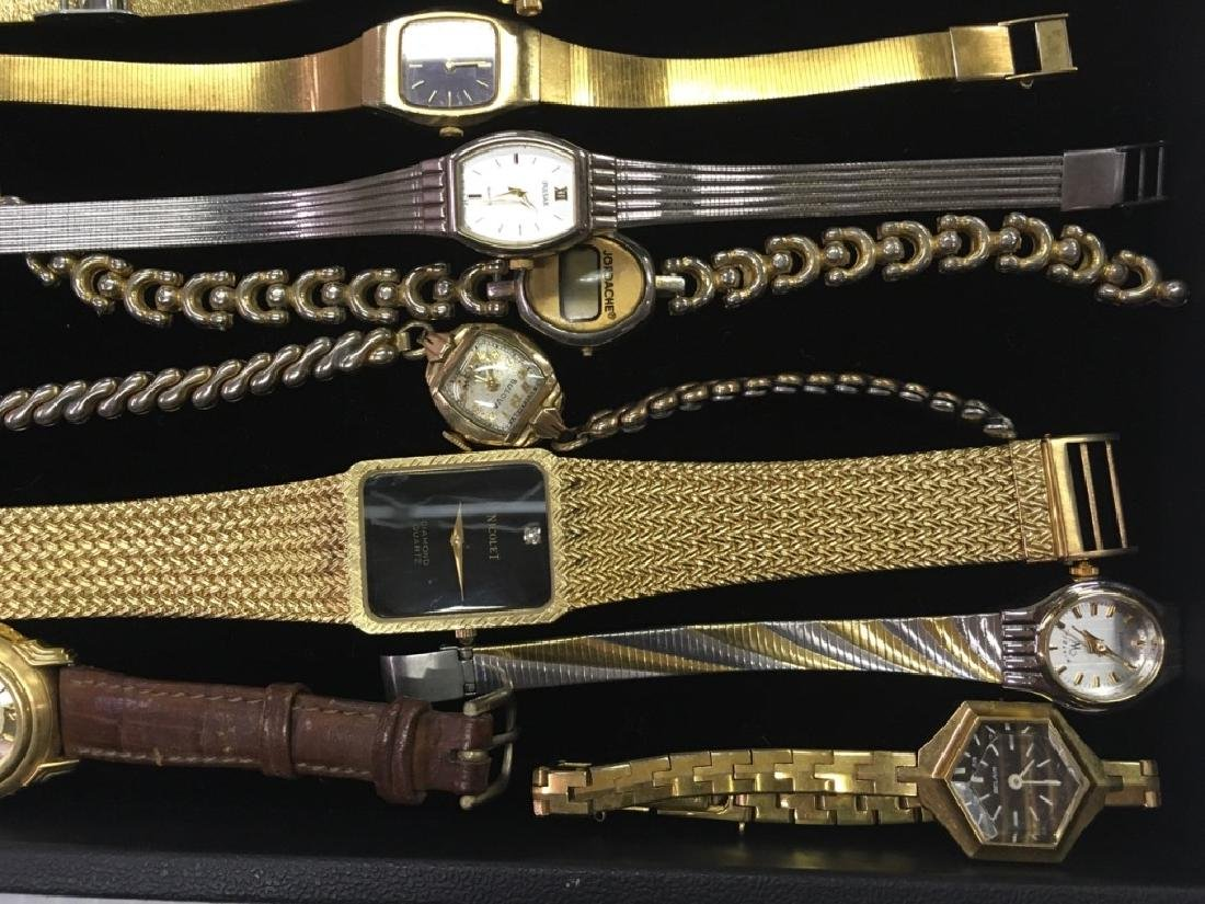 TRAY LOT OF WRIST WATCHES - 6
