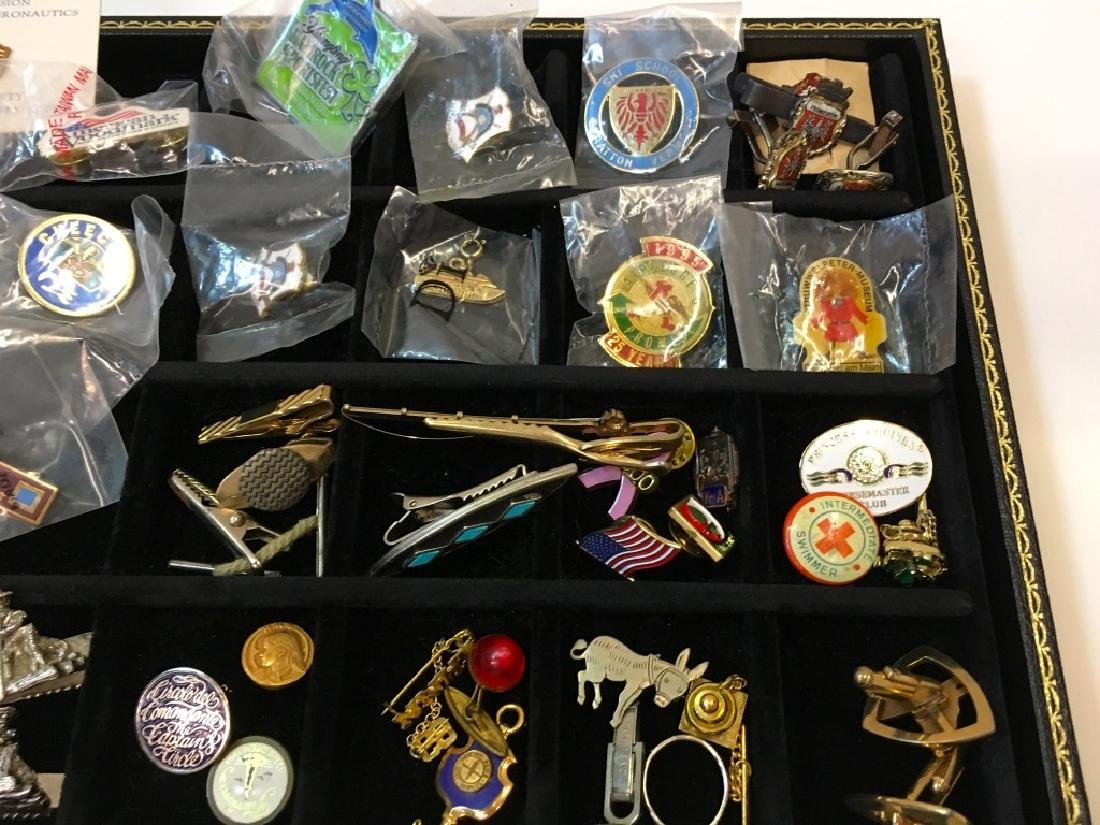 LARGE ASSORTMENT OF LAPEL PINS, CUFFLINKS & MORE - 2