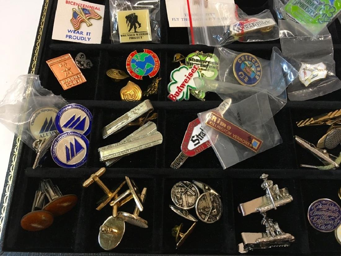 LARGE ASSORTMENT OF LAPEL PINS, CUFFLINKS & MORE - 3