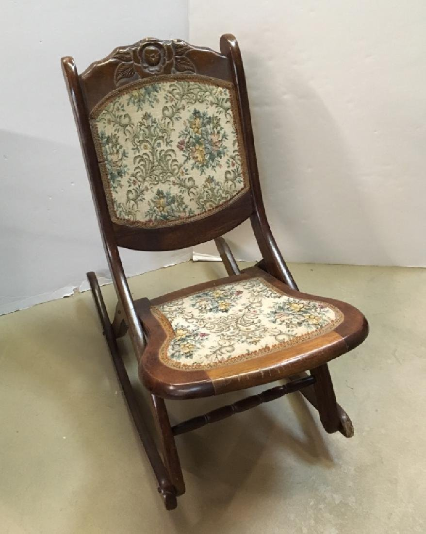 VICTORIAN STYLE FOLDING ROCKING CHAIR