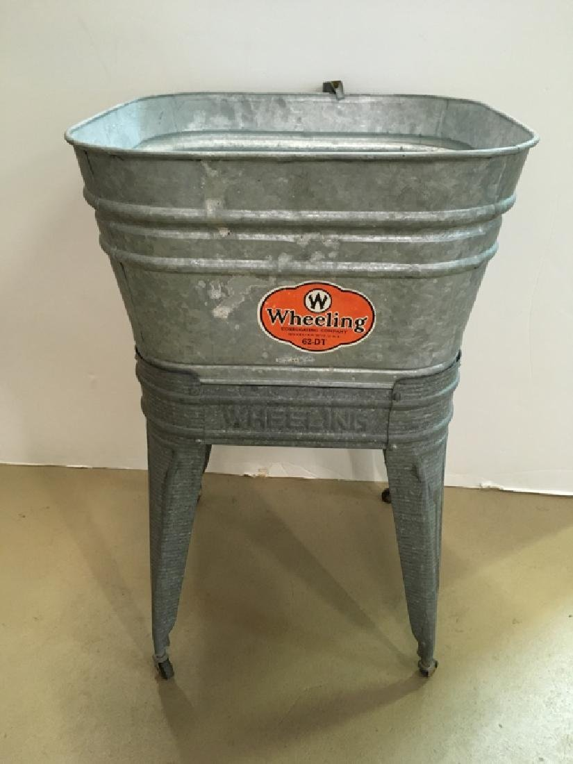 VINTAGE 1950s WHEELING WASH TUB #62-DT