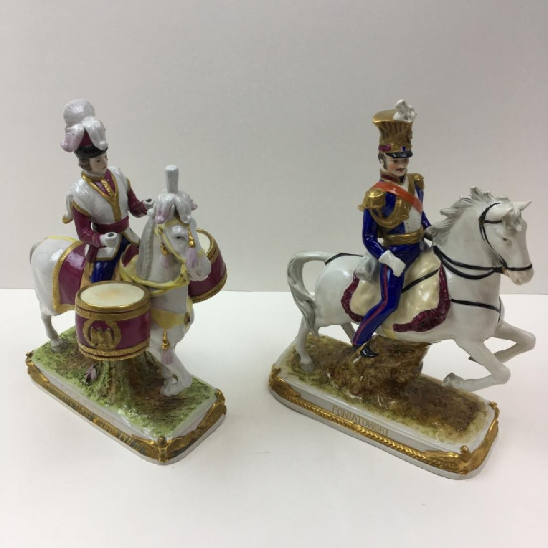 2 HAND PAINTED PORCELAIN FIGURINES