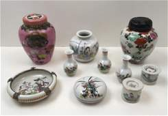 10 PCS OF HAND PAINTED CHINESE DECORATIVES