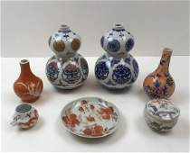 7 PCS OF HAND PAINTED CHINESE DECORATIVES