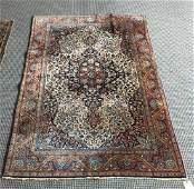 HAND KNOTTED SILK  WOOL ORIENTAL RUG