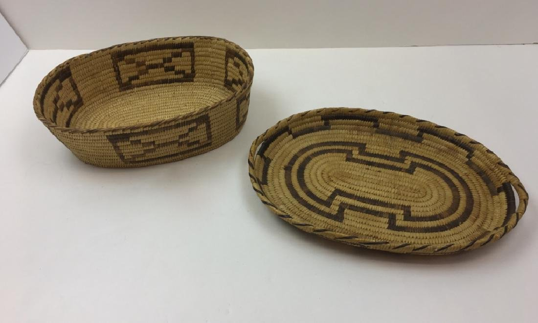 2 NATIVE AMERICAN WOVEN BASKETS