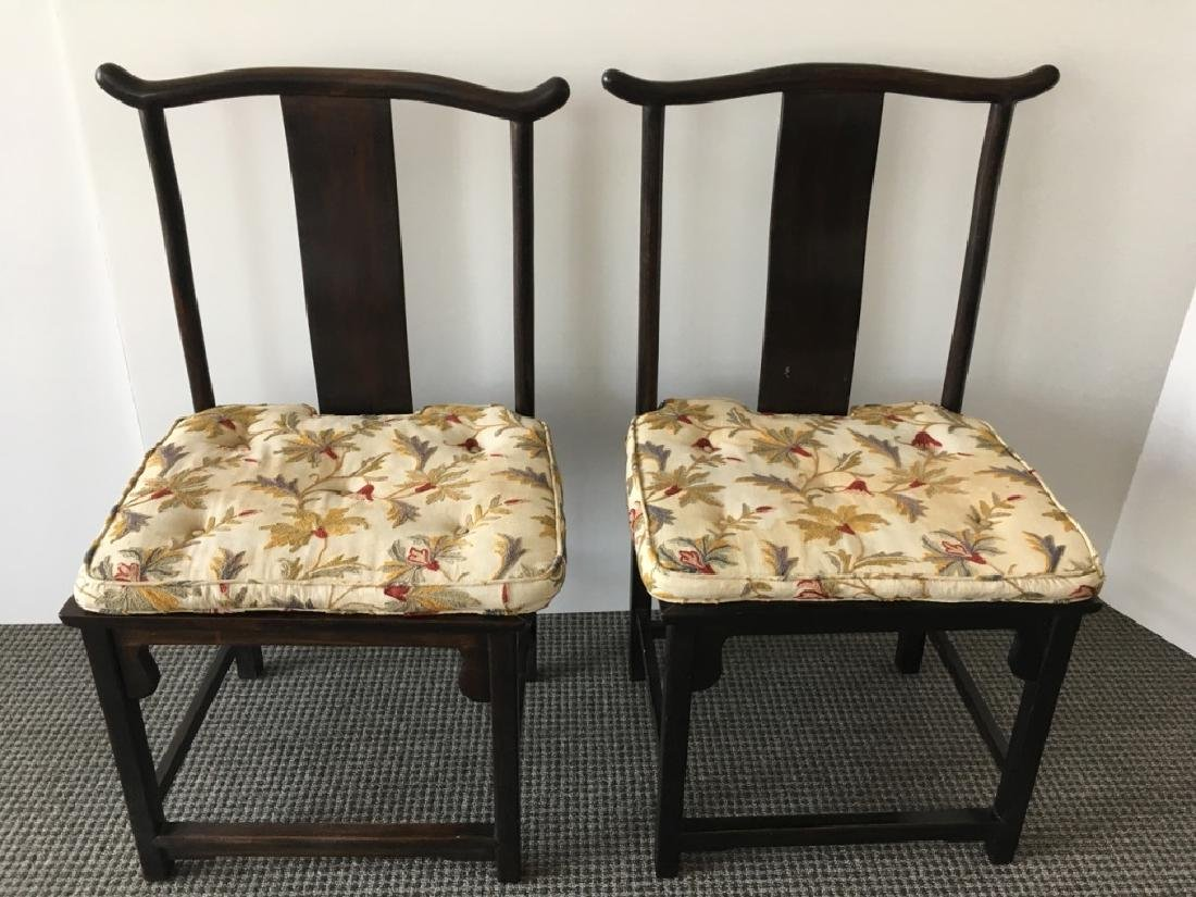 PAIR OF CHINESE ROSEWOOD SIDE CHAIRS
