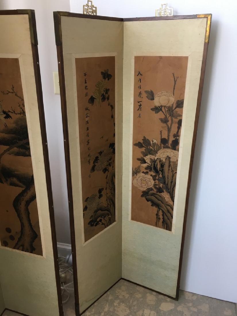 PAIR OF CHINESE 2 PANEL SCREENS - 3