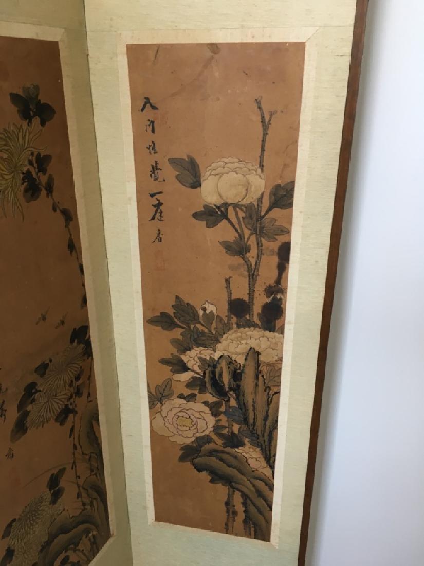 PAIR OF CHINESE 2 PANEL SCREENS - 4