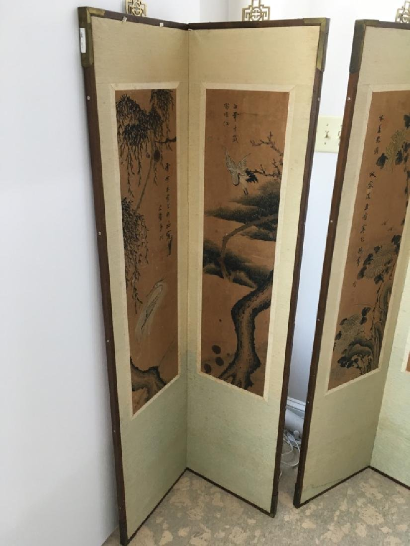 PAIR OF CHINESE 2 PANEL SCREENS - 6