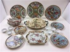 12 PCS OF HAND PAINTED CHINESE / JAPANESE ITEMS