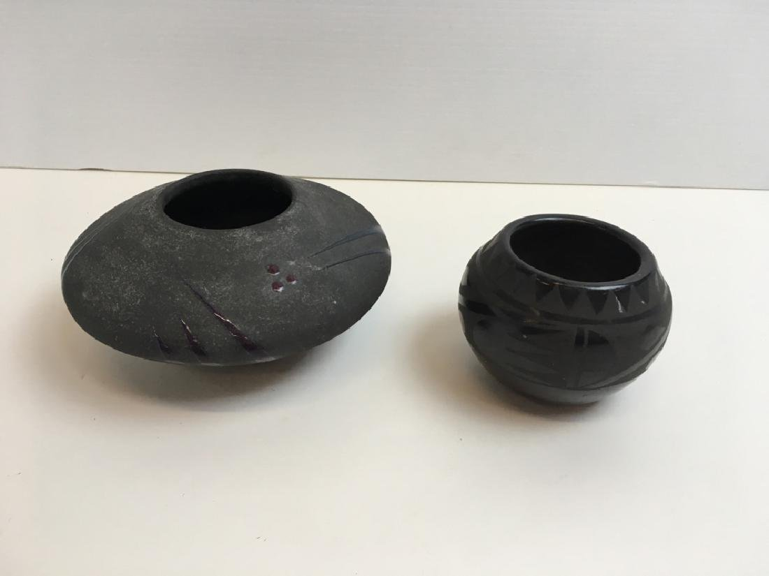 2 BOWLS - BLACK WARE & ART POTTERY