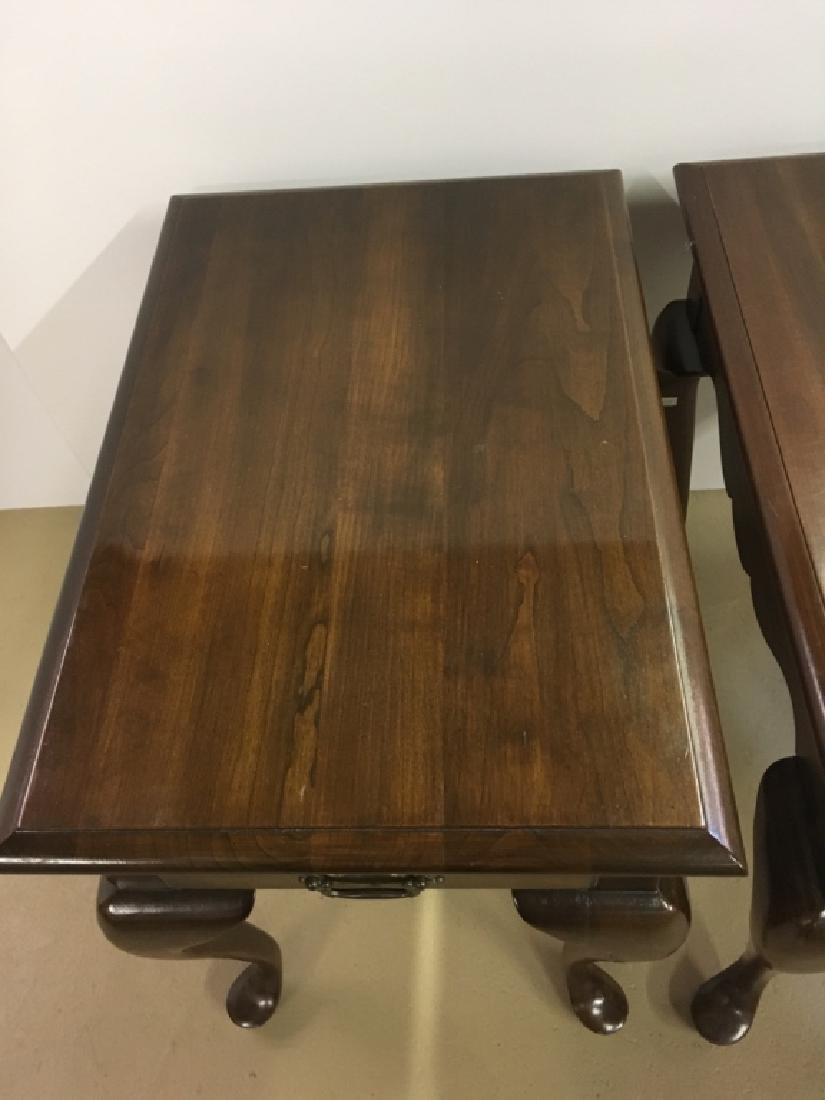 PAIR OF QUEEN ANNE STYLE END TABLES - 9