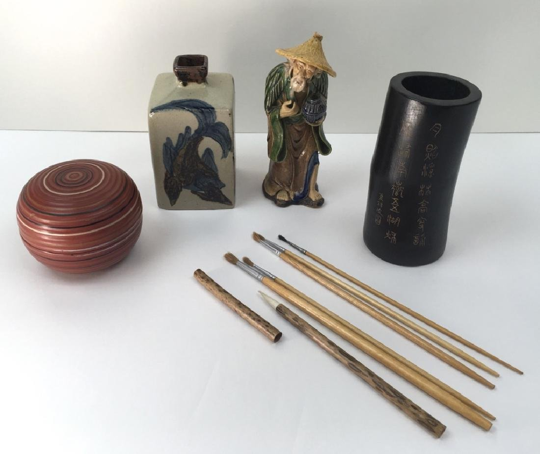 4 PCS OF ASSORTED ASIAN DECORATIVES