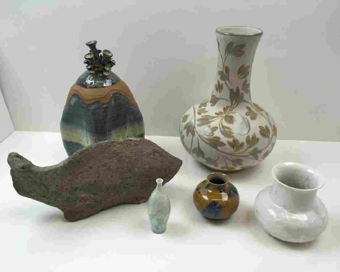 6 PCS OF CONTEMPORARY ART POTTERY
