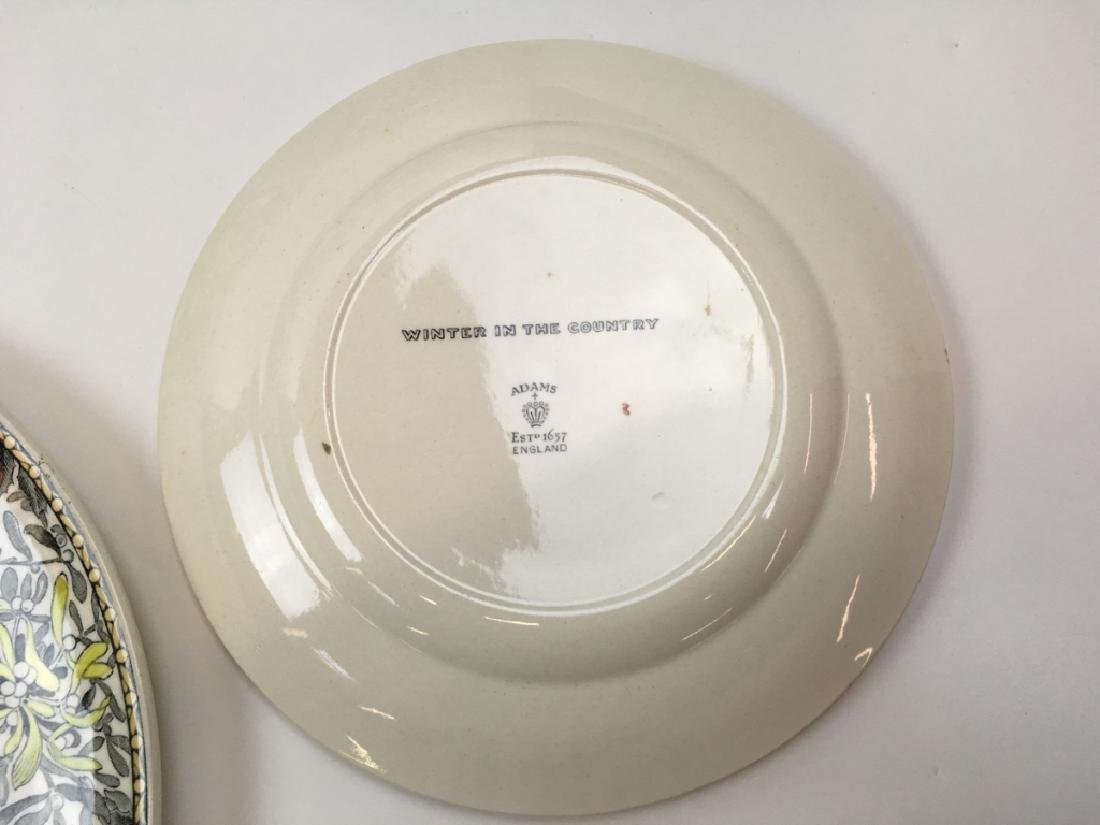 12 TRANSFER WARE PLATES BY ADAMS - 10