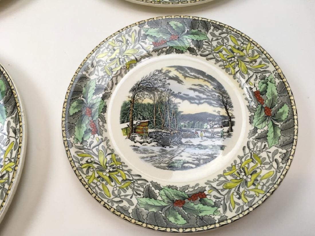 12 TRANSFER WARE PLATES BY ADAMS - 8