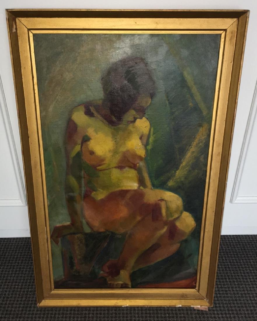 FRAMED OIL ON CANVAS OF NUDE FEMALE - 20