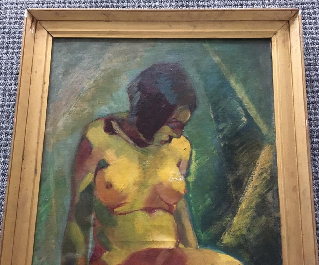 FRAMED OIL ON CANVAS OF NUDE FEMALE - 2