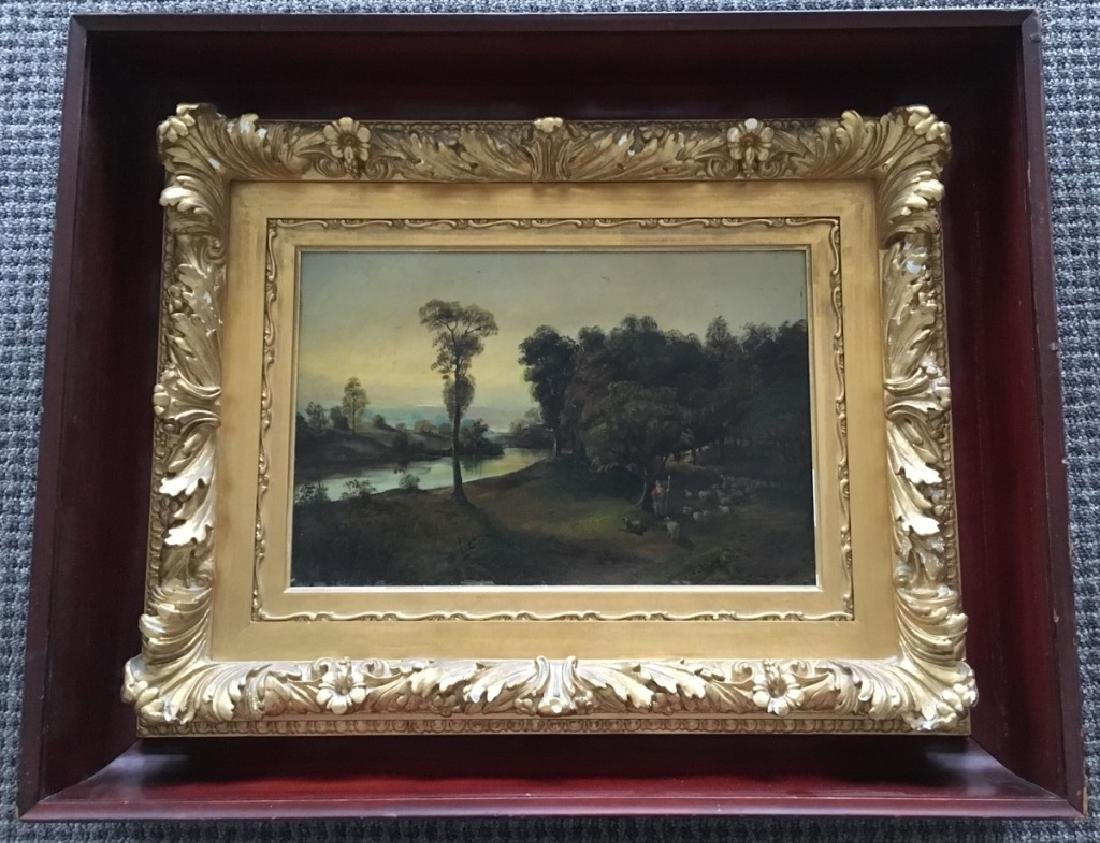 FRAMED LANDSCAPE OIL ON BOARD