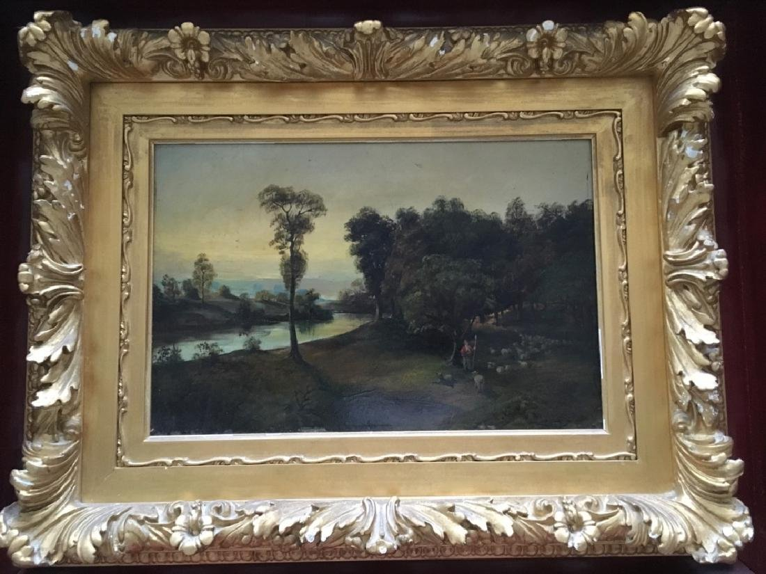 FRAMED LANDSCAPE OIL ON BOARD - 2