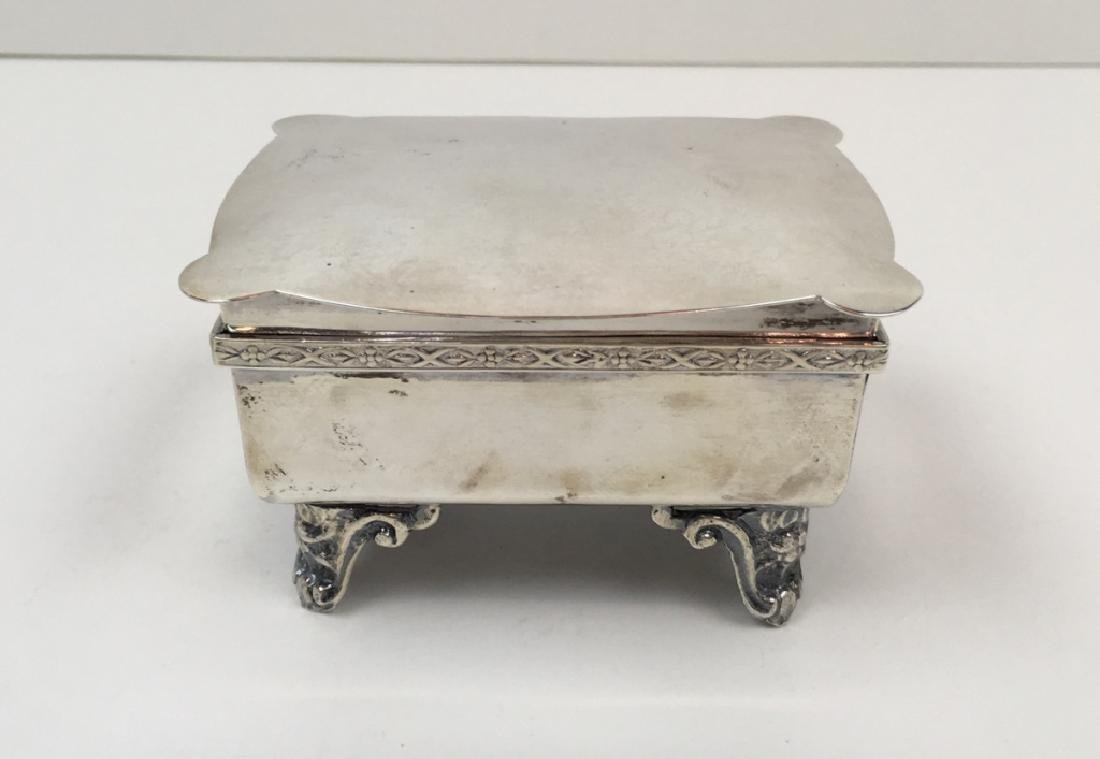 STERLING ART DECO DRESSER BOX & JEWELRY CASKET - 12